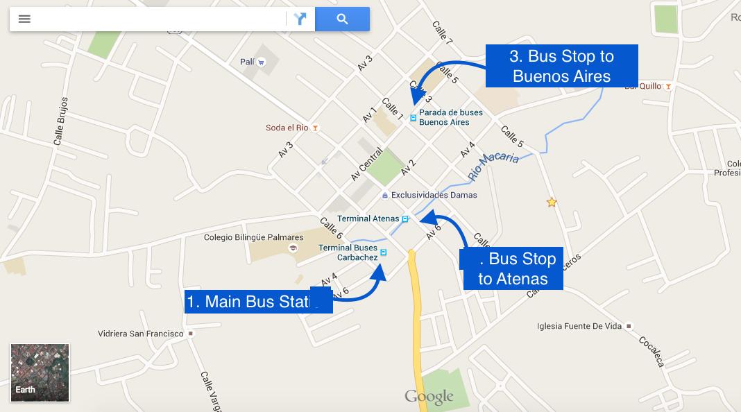 Palmares Alajuela Costa Rica By Bus